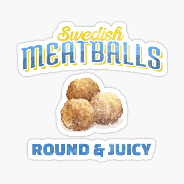 Swedish Meatball Stickers Redbubble