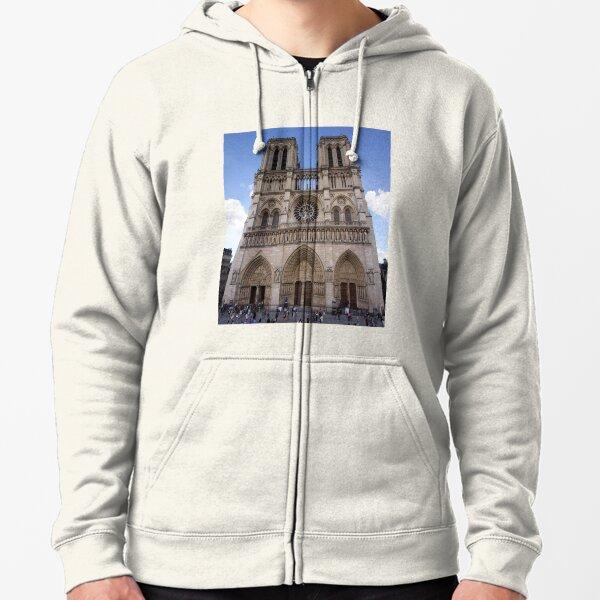 Notre Dame de Paris Zipped Hoodie