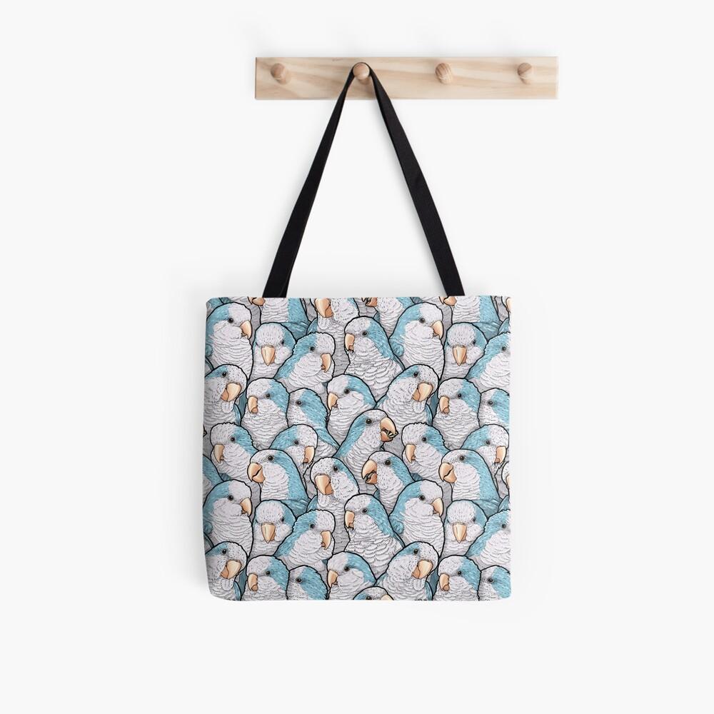Blue Quaker Parrots Tote Bag