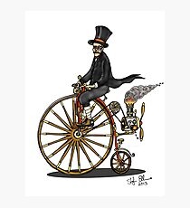 STEAMPUNK PENNY FARTHING BICYCLE Photographic Print