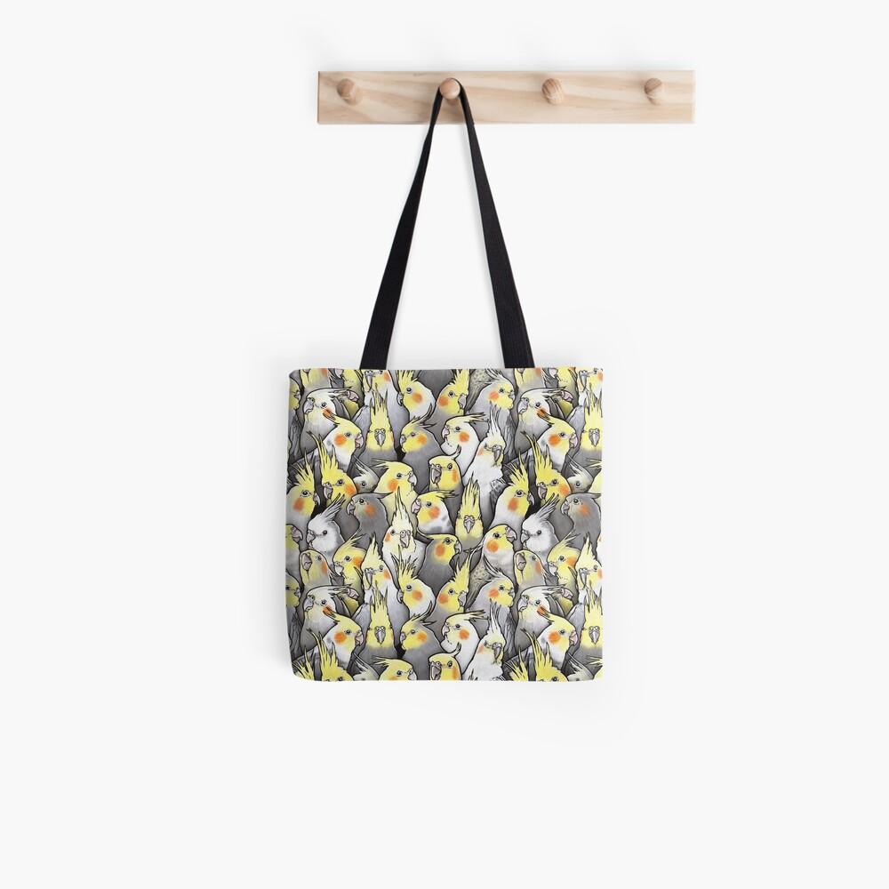 Cockatiels Galore Tote Bag