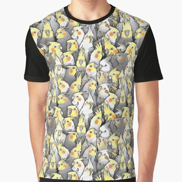 Cockatiels Galore Graphic T-Shirt