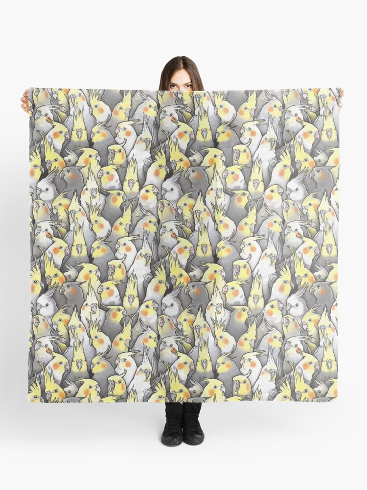 Cockatiels Galore Scarf By Maratusfunk Redbubble