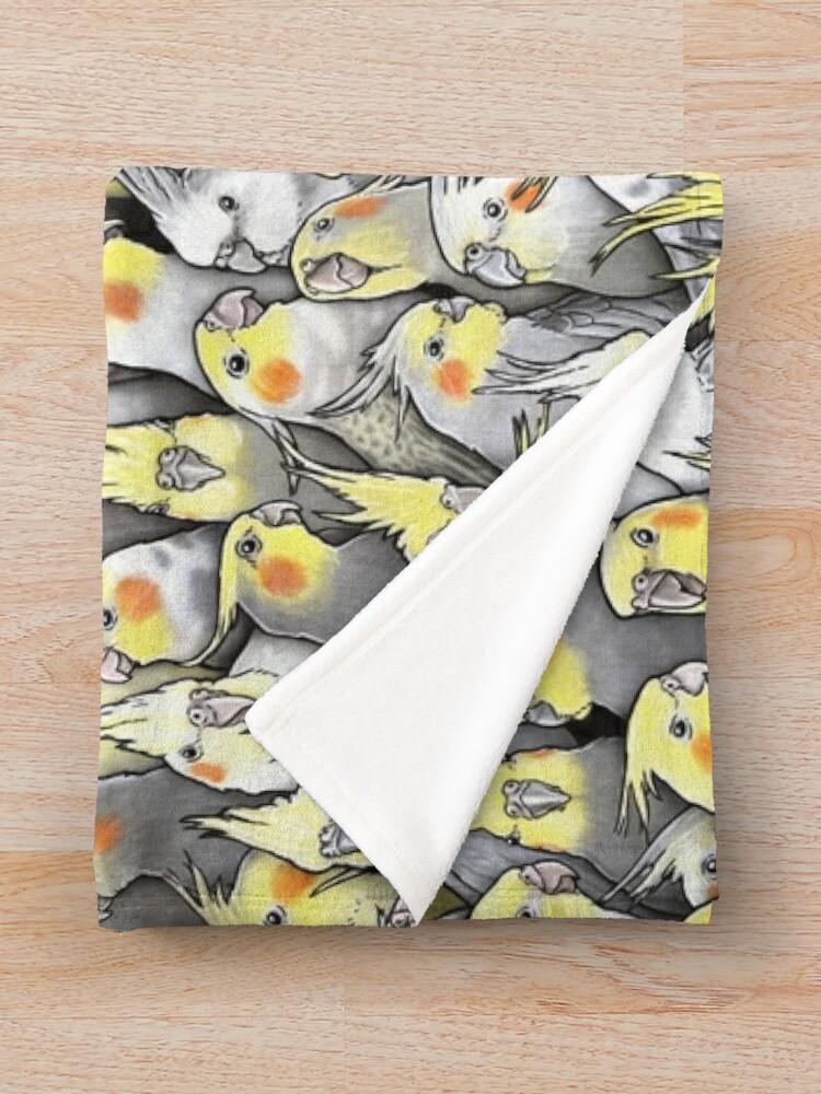 Alternate view of Cockatiels Galore Throw Blanket