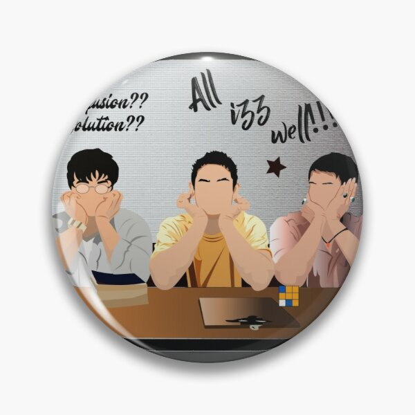 3 idiots of Indian Bollywood Pin