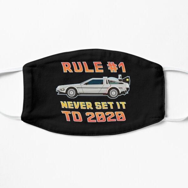 Ne le réglez jamais sur une voiture de voyage dans le temps 2020 Masque sans plis