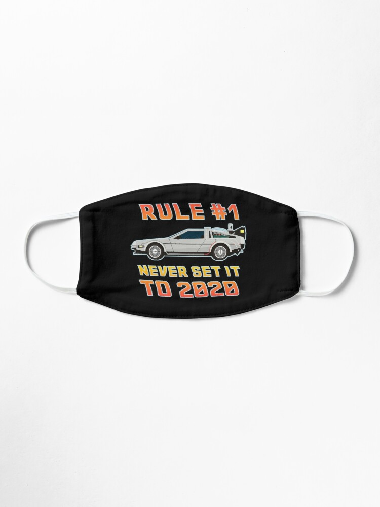 Alternate view of Never Set It To 2020 Time Traveling Car Mask