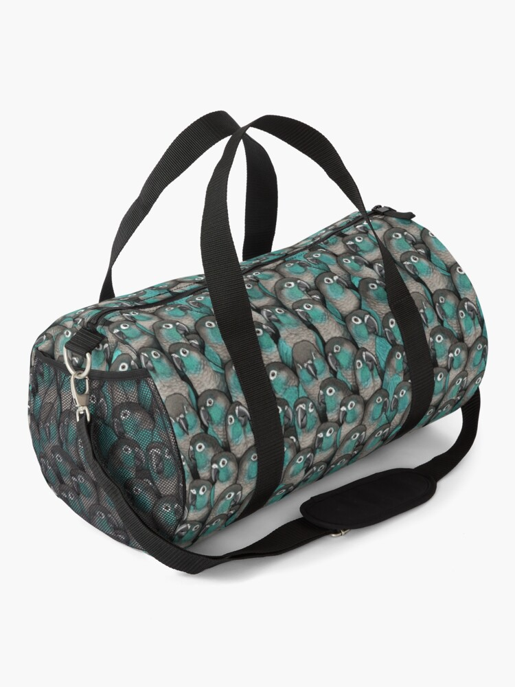 Alternate view of Turquoise Green-Cheeked Conures Duffle Bag