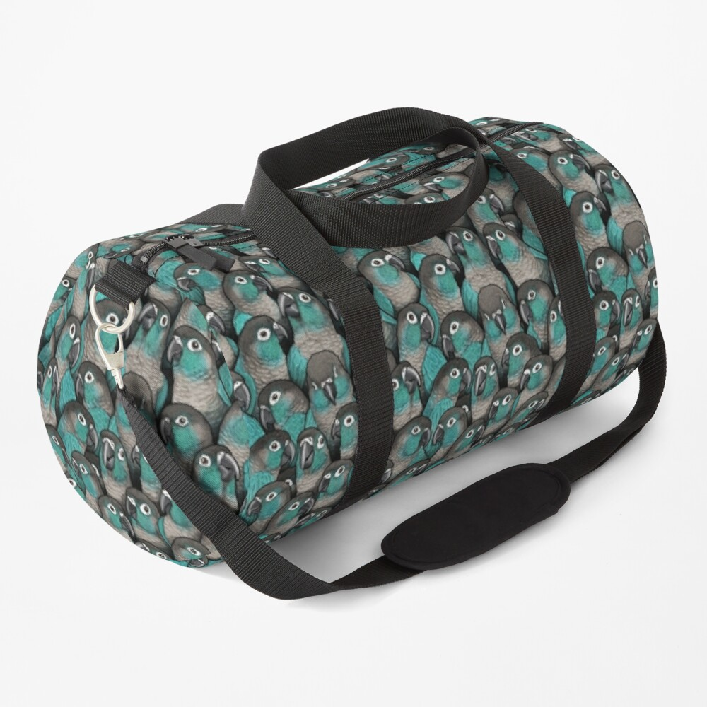 Turquoise Green-Cheeked Conures Duffle Bag