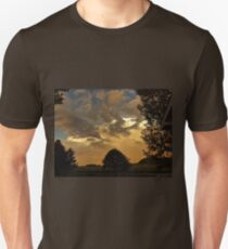 Beautiful Sky With Rainbow In The Distance T-Shirt