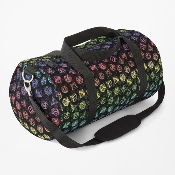 D20 Dice Set Pattern (Rainbow) Duffle Bag