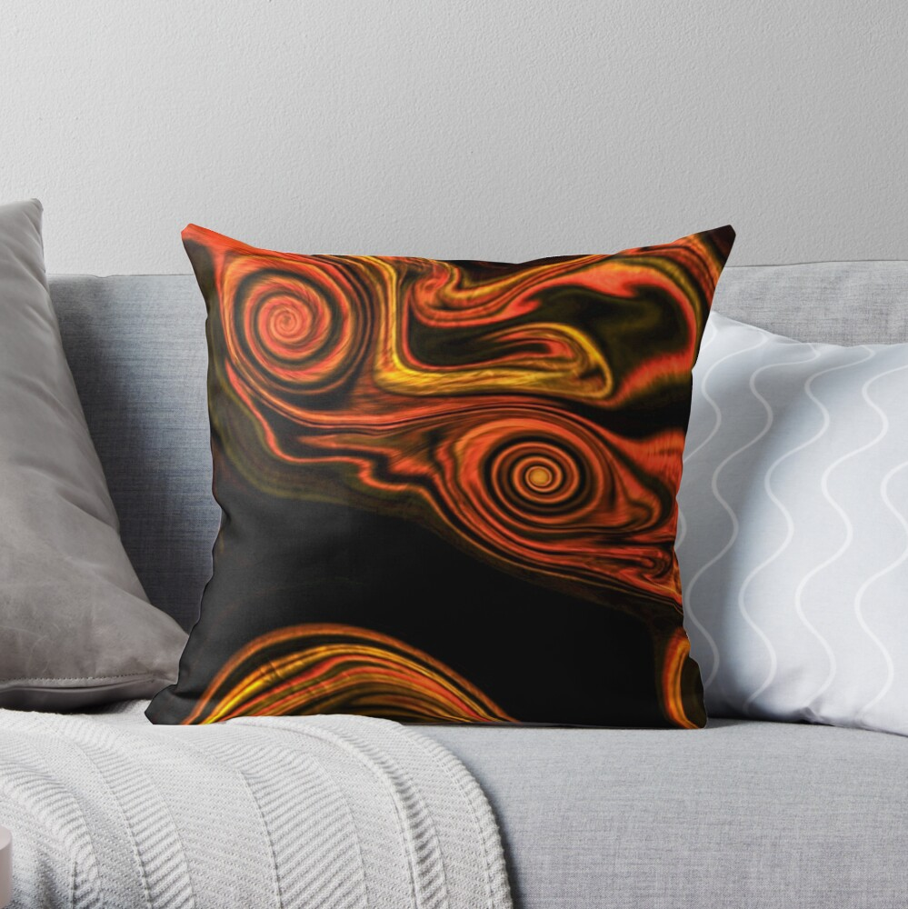 Abstract  patterns, decorative,  aesthetic design, acrylics Throw Pillow