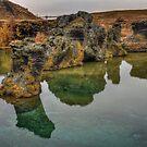 Rocks, Lake Myvatn by Peter Hammer
