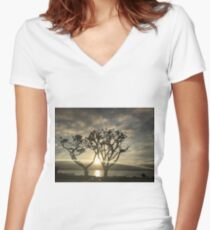 Corel Trees Women's Fitted V-Neck T-Shirt