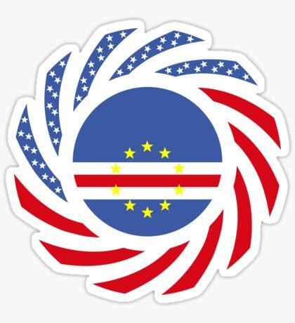 Cape Verdean American Multinational Patriot Flag Series 1.0 Sticker
