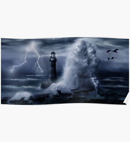 Light House Storm Poster