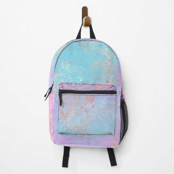 Purple Blue Rainbow Unicorn Texture with Copper Marble Effect Backpack