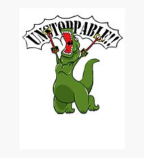 Unstoppable T-Rex Photographic Print