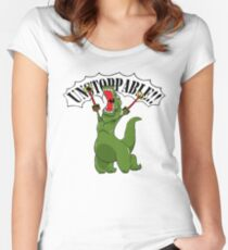 Unstoppable T-Rex Women's Fitted Scoop T-Shirt