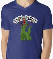 Unstoppable T-Rex Men's V-Neck T-Shirt