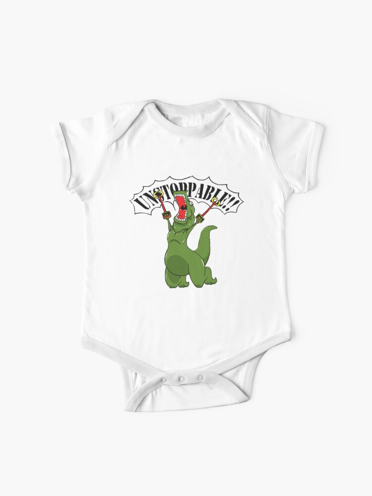 Unstoppable T-Rex Long Sleeve Funny Newborn Clothes