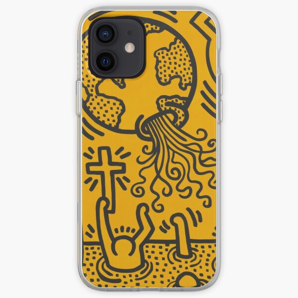 Keith Haring Painting Coque souple iPhone