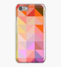 background of geometric squares iPhone Case/Skin
