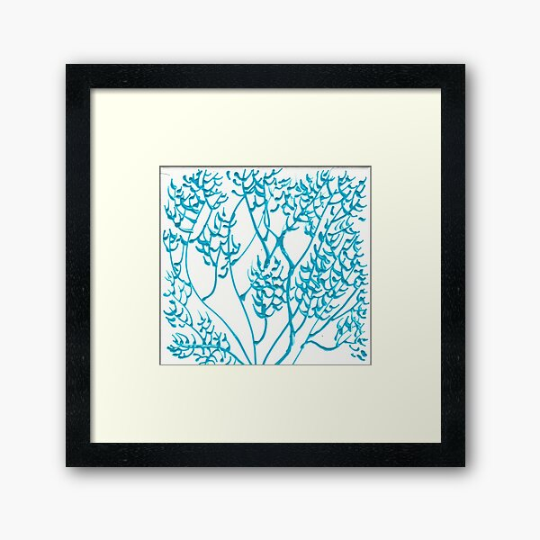 SEA FAN BLUE OCEAN WAVES 2 Framed Art Print