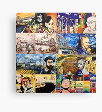 Mini Masters Collage Canvas Print
