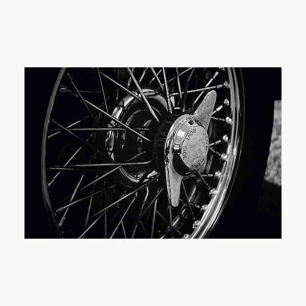 Classic Car Wheel Photographic Print