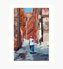 The Old Town, Sardinia, Italy Art Print