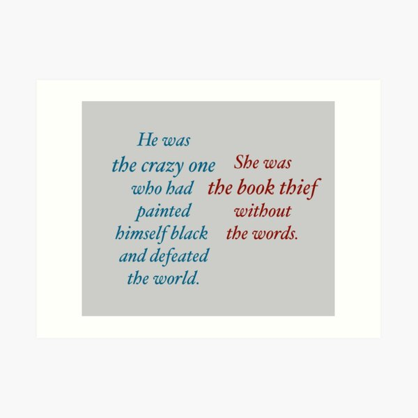 She was the Book Thief Art Print
