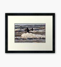 Kite Surfing - 1288 Framed Print