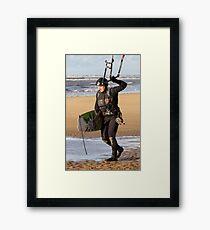 Kite Surfing - 1264 Framed Print