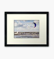 Kite Surfing - 1274 Framed Print