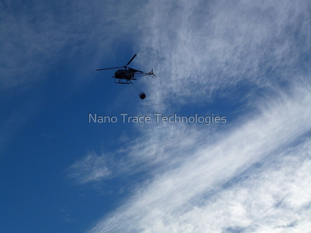 Flushing water transported in by helicopter by Nano Trace Technologies