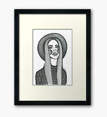 stylish boho fashion illustration  Framed Print