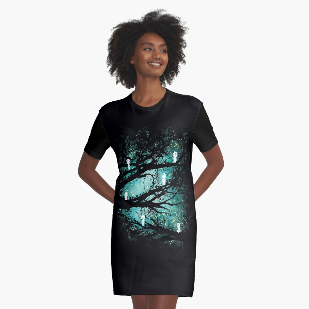 Tree Spirits Graphic T-Shirt Dress