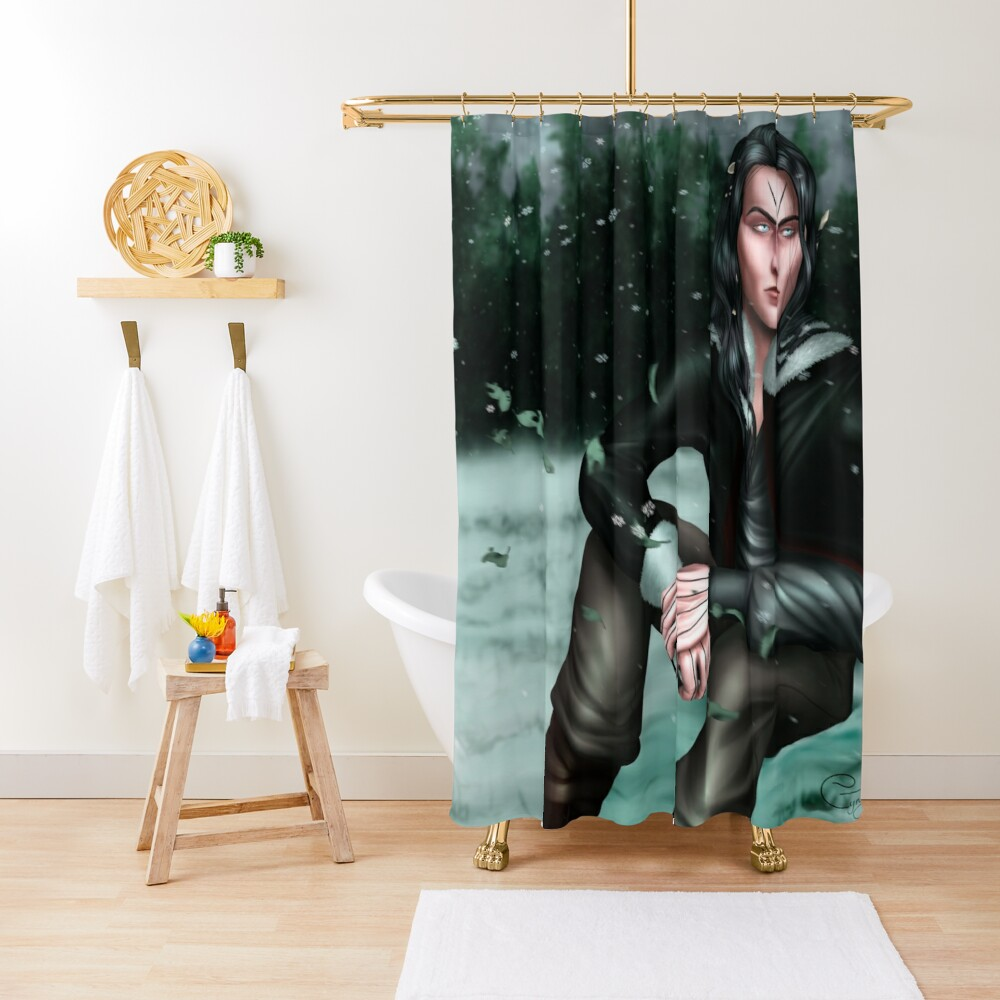 Malachiasz Czechowicz - Ruthless Gods Shower Curtain