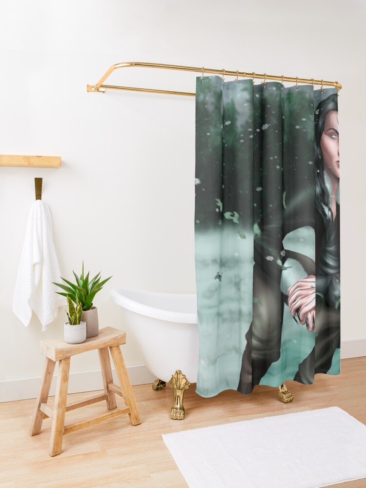 Alternate view of Malachiasz Czechowicz - Ruthless Gods Shower Curtain