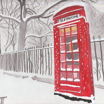 Christmas Watercolour by DaniJames
