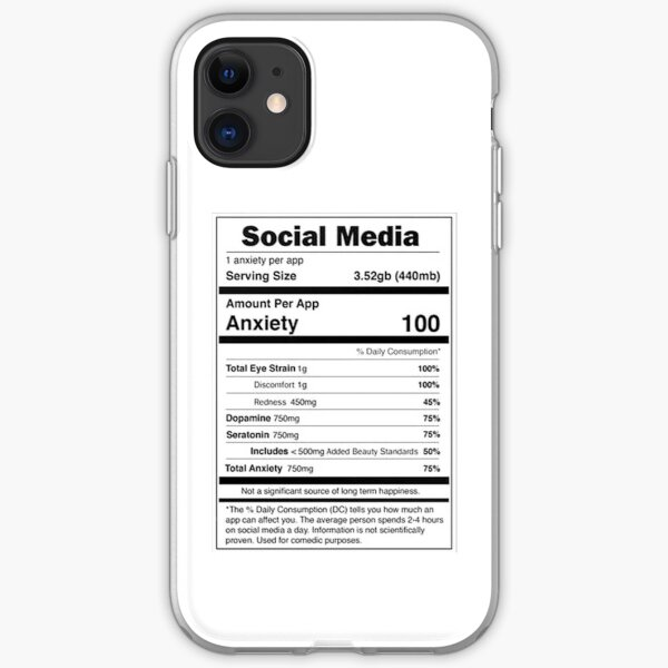 Social Media Nutrional Value iPhone Soft Case