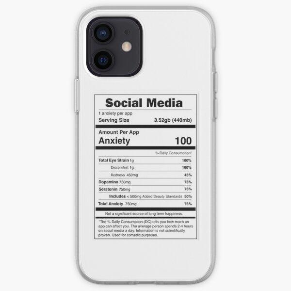 Social Media Nutrional Value iPhone Soft Case