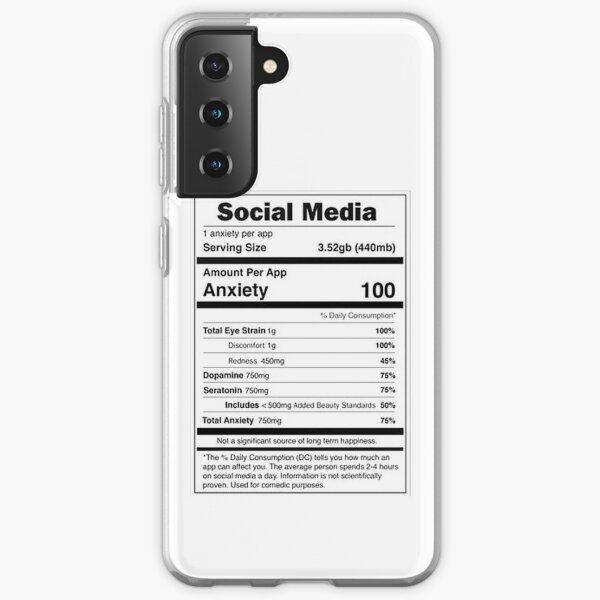 Social Media Nutrional Value Samsung Galaxy Soft Case
