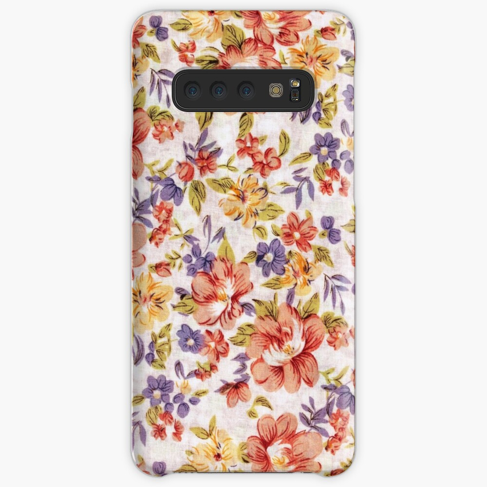 Flowers Wallpaper Pattern Case Skin For Samsung Galaxy By Rivaikramaric Redbubble