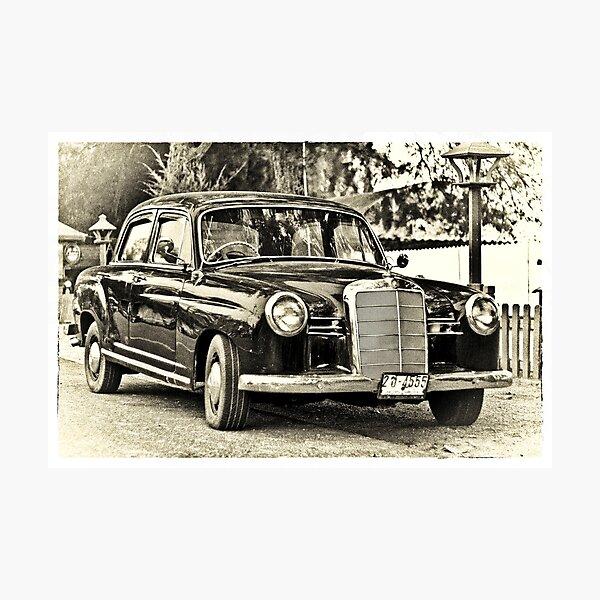 Vintage Mercedes Benz 190 Ponton Sedan 50s Fotodruck