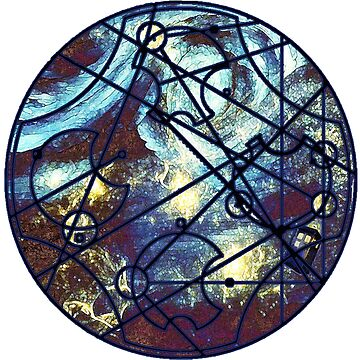 "Dr. Who Gallifreyan ""Dream Improbable Dreams"", with Tardis, steam punk, white border by hgwells"