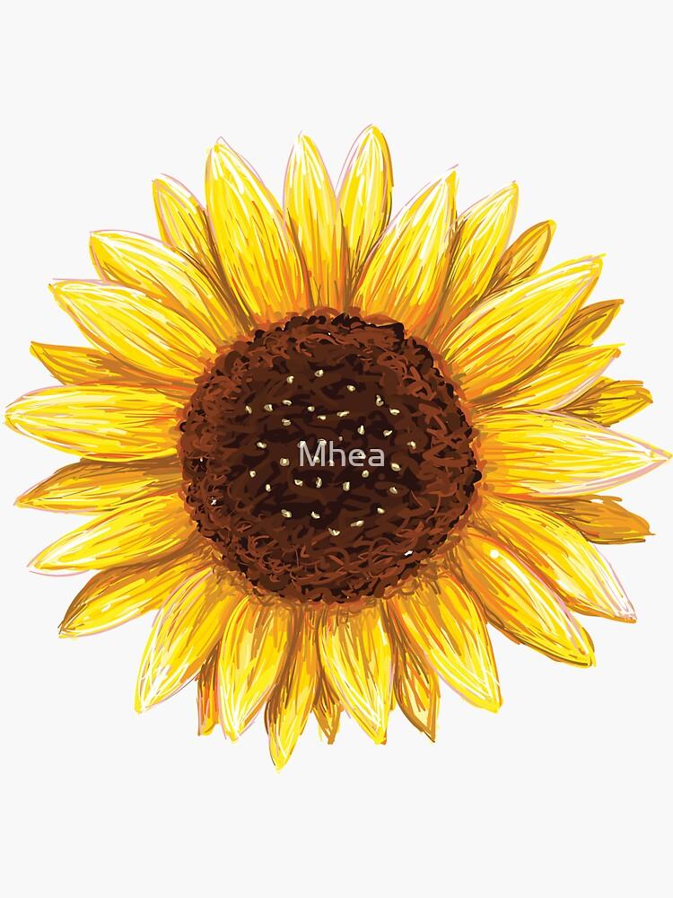 Sunflower sticker by Mhea