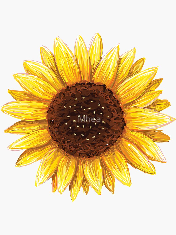 U0026quot Sunflower Sticker U0026quot  Sticker By Mhea