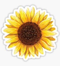 Sunflower sticker Sticker